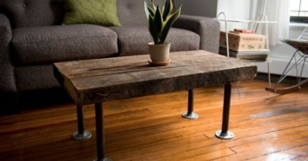 Do it yourself coffee table with steel pipe legs homework pinterest plumbing pipes and Do it yourself coffee table