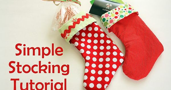 DIY Christmas Stocking : DIY Simple Mini Stocking Tutorial