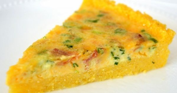 Bacon Cheddar Scallion Breakfast Tart with Grits Crust ...