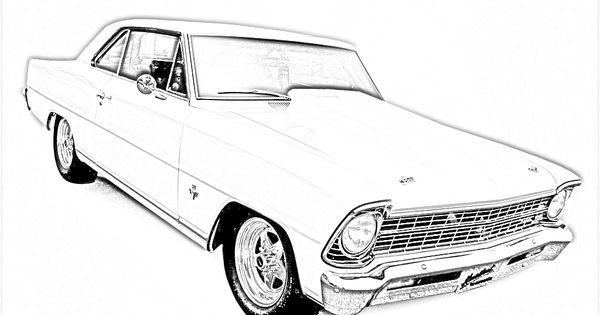 pin old car coloring - photo #1
