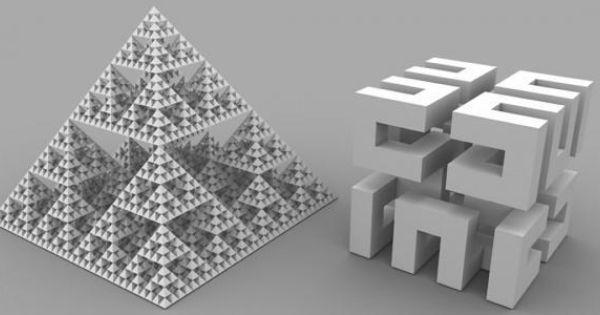 Sierpinski Pyramid Level 6 And Hilbert S Cube Level2 Pyramids Hilbert Cube