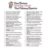 Pin By Diane Martinson Vocalist On Wedding Ceremony Music Soloist Diane Martinson Wedding Ceremony Music Wedding Music Ceremony Songs