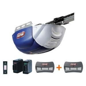 Genie Chainlift 600 1 2 Hp Dc Motor Chain Drive Garage Door Opener With Bonus Remote Discontinued 1022 2tx The Home Depot Garage Door Opener Garage Doors Door Opener