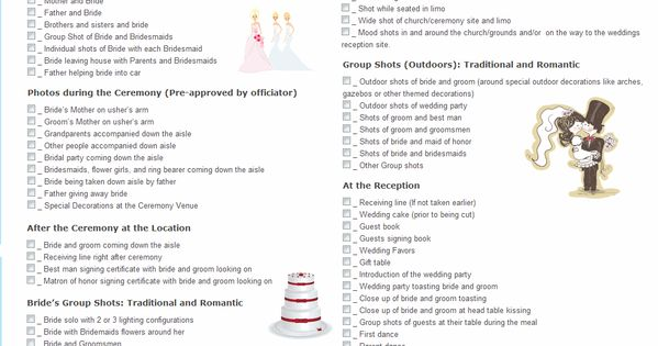 It is an image of Printable Wedding Photography Checklist regarding event photography