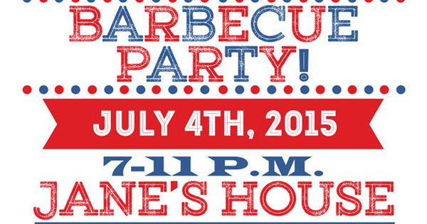 4th of july bbq wording