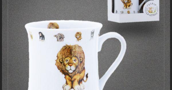 tasse th pas cher lion mug caf porcelaine dans la. Black Bedroom Furniture Sets. Home Design Ideas