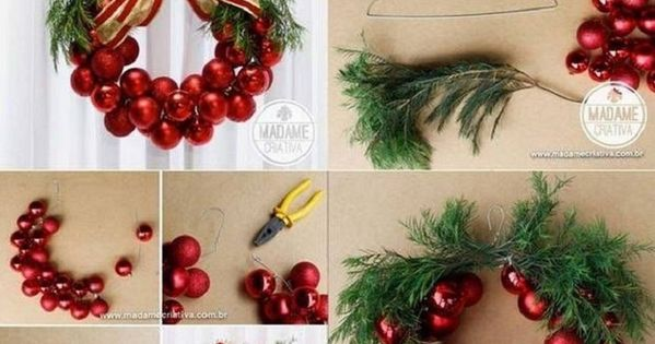 DIY Christmas Bauble Wreath - 15 Best DIY Ideas to Winterize Your