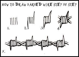 how to draw barbed wire | Barbed wire drawing, Wire drawing ... How To Draw Wire on how to draw feathers, how to draw yarn, how to draw hammer, how to draw ladder,