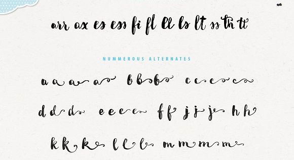 Miletta is my new handwritten font painted with real brush and ink