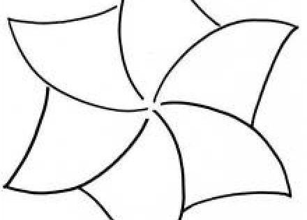 Quilt Pattern Stencil Spinning