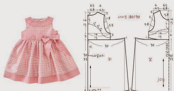 платье для девочки 6 месяцев выкройка своими руками указана