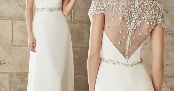 ... Favorite: Jeweled Cap Sleeve Wedding Dress | We, Note and Wedding