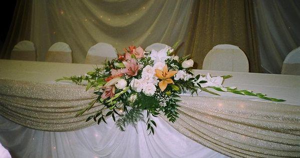 wedding head table decorations | View Wedding Decor | Head ...  |Outdoor Wedding Reception Head Table