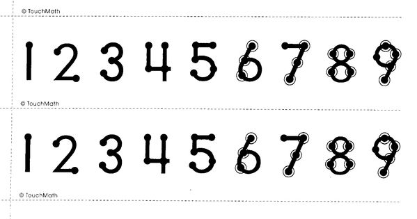 Number Line Printable Printable Touchmath Number