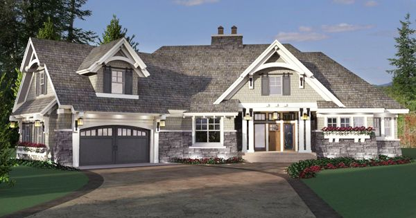 Plan 14651rk exciting craftsman house plan house plans for Craftsman house plans with bonus room