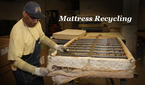 Second Chance Recycling Recycling Mattresses Box Springs And Batteries Recycling Recycle Mattress Waste Management Recycling
