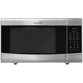 Frigidaire 1 6 Cu Ft 1 100 Watt Countertop Microwave Stainless Steel Ffmo1611ls Stainless Steel Microwave Countertop Microwave Built In Microwave