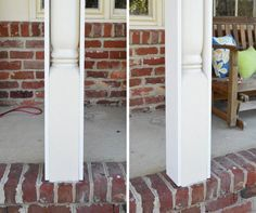 Updating Front Porch Posts Front Porch Columns Wood Porch Posts Front Porch Posts Porch Columns House With Porch