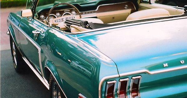 68 Ford Mustang Convertible epic cars autos classic love. My dream car!