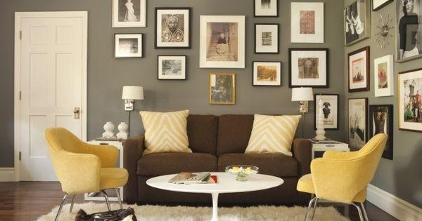 Flokati-teppich-wohnzimmer-moebel-braun-gelb-fotowand.jpg (640×427 ... Wohnzimmer Braun Gelb