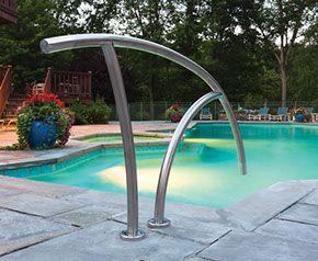 Creative Pool Handrails Google Search Swimming Pool Pool Rails Pool Ladder Backyard Pool Landscaping