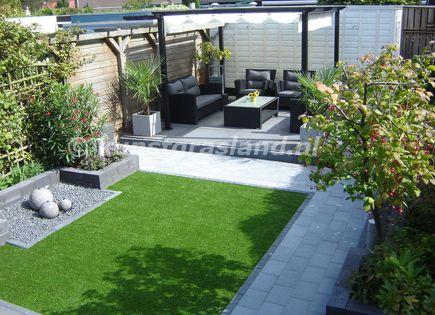 Voorbeeld 2 tuin met kunstgras tuin ideeen pinterest tuin budget en met - Ideeen terras ...