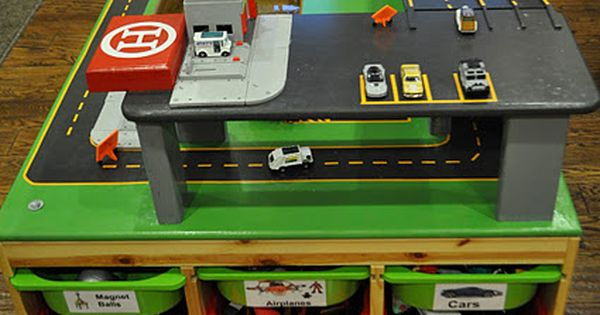 Totally awesome DIY car table. I am gonna have to do this