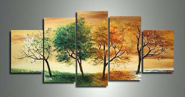 Pintura de las estaciones del a o decoraci n para el for Pinturas para el hogar