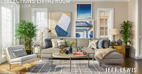 Jeff lewis curated this living room for walter e smithe for Walter e smithe living room