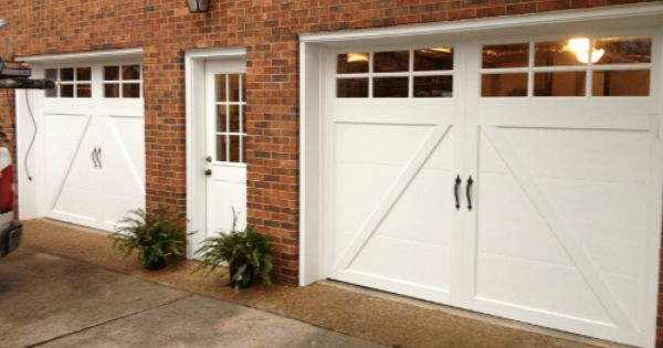 Clopay coachman collection white steel carriage style for Clopay hurricane garage doors