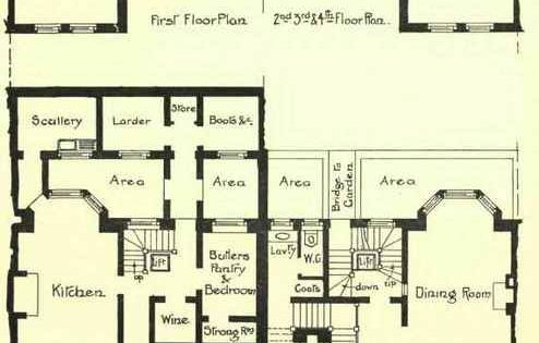Floor Plans Of A Large Townhouse In Charles Street
