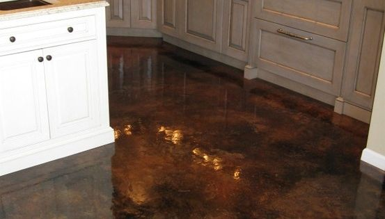 Acid stained concrete flooring with gloss finish so easy - Cleaning interior concrete floors ...