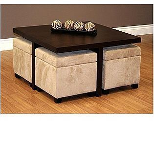 Coffee Table With Pull Out Storage Seats Ottoman Coffee Table