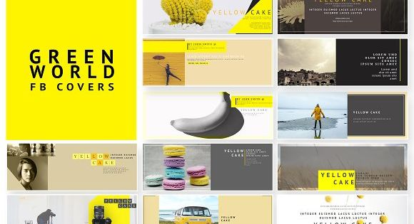 Yellow Cake – A yellow color themed facebook cover pack