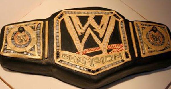 Wwe Championship Belt Cake Cakepins Com Wrestling Bday