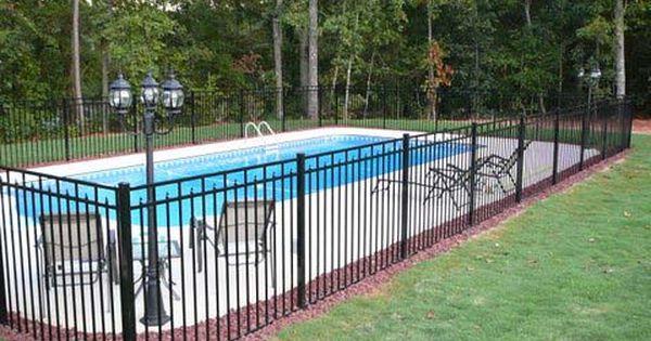 Inground Pool Fence Ideas mix and match pool fence style Galvanized Iron Railing Iron Fence Panels Swimming Pool Raiing H2o Zone Pinterest Iron Fence Panels And Iron Railings