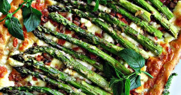 sweetsugarbean: Oh Baby! Roasted Asparagus, Bacon & Cheese Tart | to ...