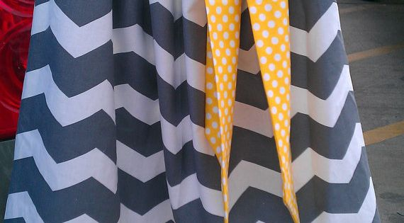 Girls Pillowcase Dress, Chevron, polka dot, gray, yellow via Etsy grey placement | See more about Pillowcase Dresses, Pillowcases and Gray Yellow.