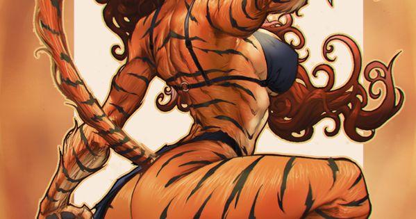 tigra by paolo pantalena marvel superhero women