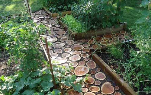 Wood Slice garden pathway