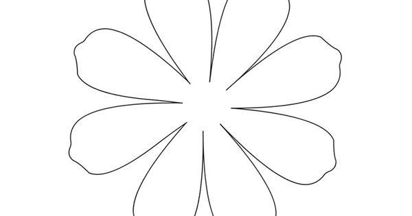 12 petal flower template - large daisy petal template printable flower daisy 8