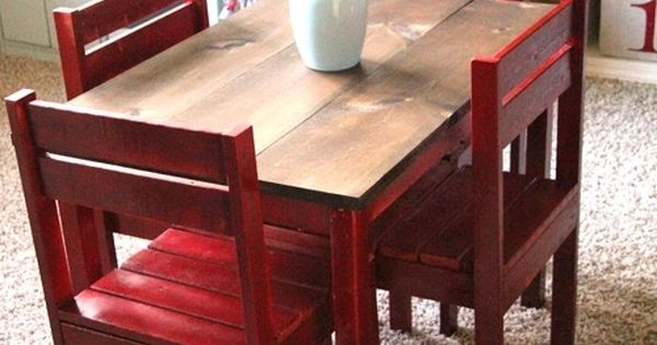 DIY Kids table for the play room