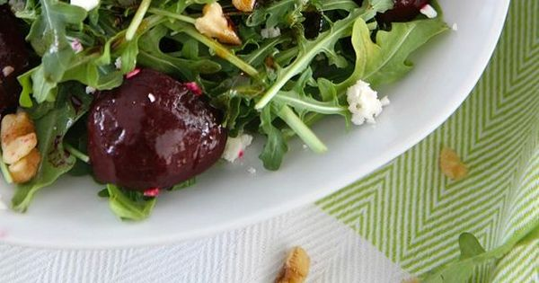 Balsamic Beet Salad with Arugula and Goat Cheese | Recipe | Beet Salad ...