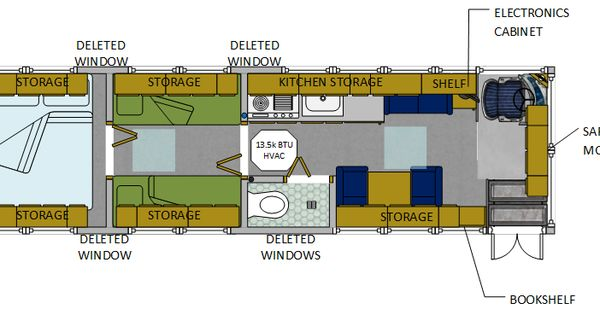 Conversion Encyclopedia Floor Plans Page 5 School Bus
