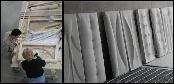 Fig 1 Model Formwork And Completed Plaster Cast Concrete Design Concrete Furniture Concrete Casting