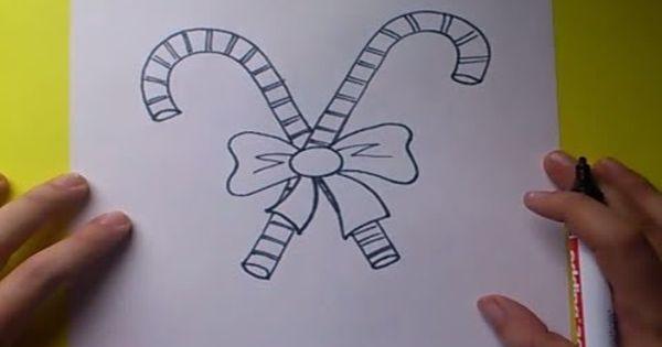 Como dibujar un baston de caramelo paso a paso 2 how to - Mesas para dibujar ...