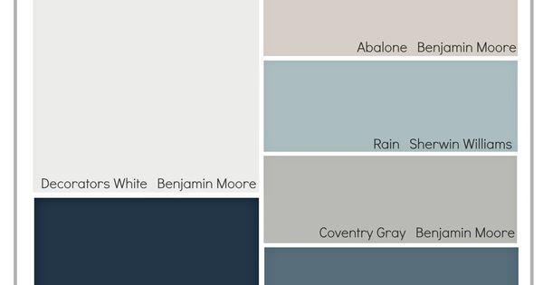 Transitional Paint Color Palette Paint Colors Rain And