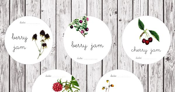 Free Printable Jam Labels @http://www.fabnfree.com/ great for gift jars