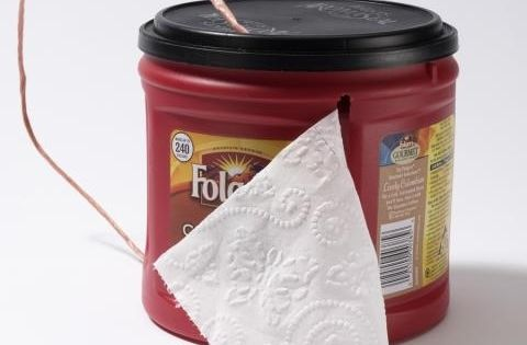 20 Creative DIY Camping Ideas Toilet paper dispenser: Use an old coffee