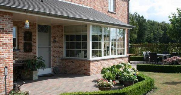 Afdak aan achterdeur en ramen aan ontbijthoek landelijk huis pinterest ramen huizen en buiten - Exterieur ingang eigentijds huis ...